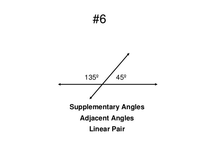 Angle Pairs (Complementary, Supplementary, Adjacent, Vertical, Linear…