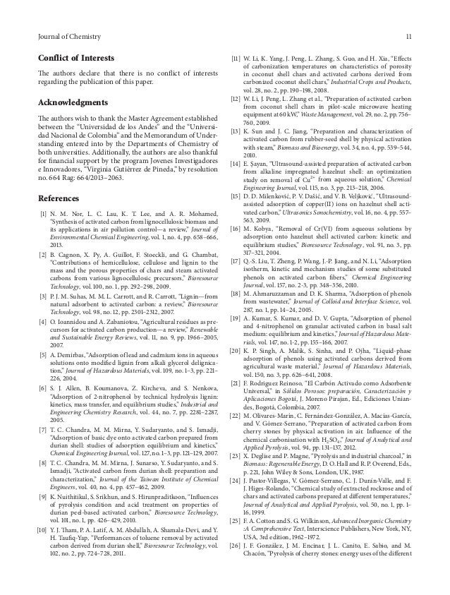 Journal of Chemistry 11 Conflict of Interests The authors declare that there is no conflict of interests regarding the pub...