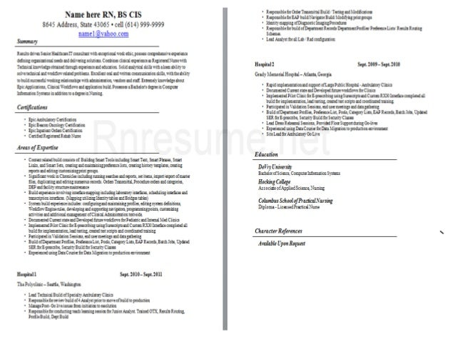 registered nurse cv sample 2 - Nursing Cv Samples