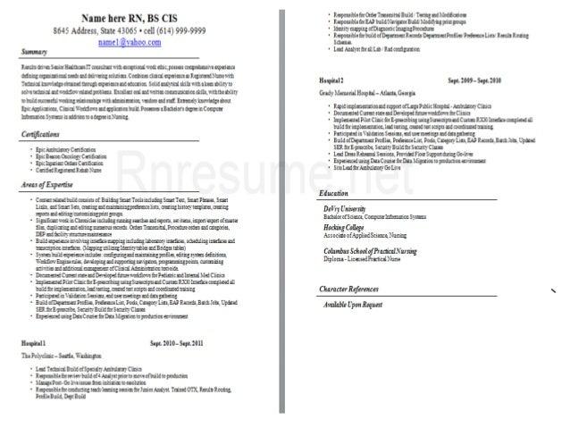 Registered Nurse CV Sample; 2. ...