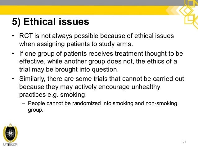 ethical issues in randomized control trial Reviewing clinical trials: a guide for the ethics committee editors johan pe karlberg and marjorie a speers clinical trials centre, the university of hong kong.