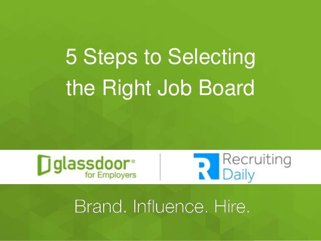 #GDChat 5 Steps to Selecting the Right Job Board