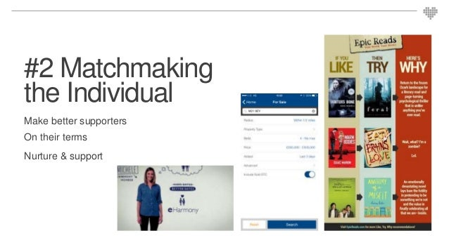 #2 Matchmaking the Individual Make better supporters On their terms Nurture & support