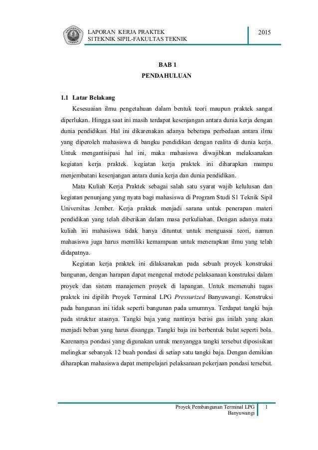 Pdf Bab I Pendahuluan Kerja Praktek Teknik Sipil Orchid Kusuma Academia Edu