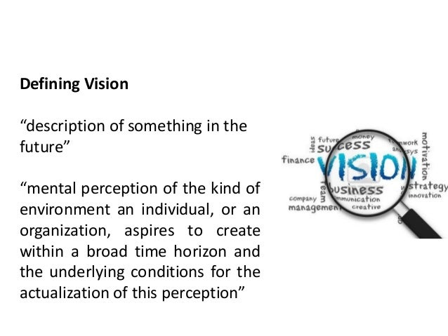 Vision and strategic framework - strategic management