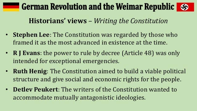 weimar constitution essay Weimar republic essays: over 180,000 weimar republic essays, weimar republic term papers, weimar republic research paper, book reports 184 990 essays, term and.