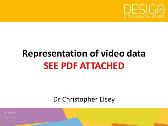 6. Representation of video data - Mark-ups/annotations Slide 3