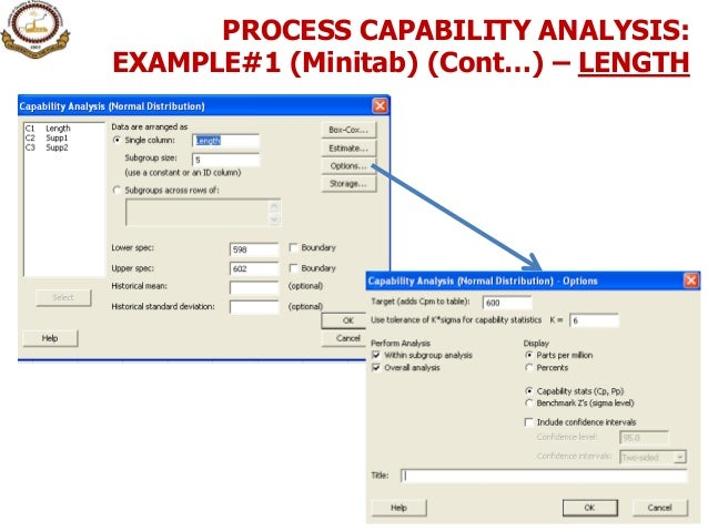 6. process capability analysis (variable data)