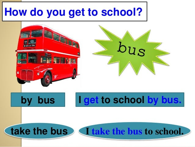Means Of Transport And Simple Present