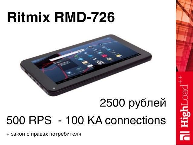 Ritmix RMD-726 2500 рублей 500 RPS - 100 KA connections + закон о правах потребителя