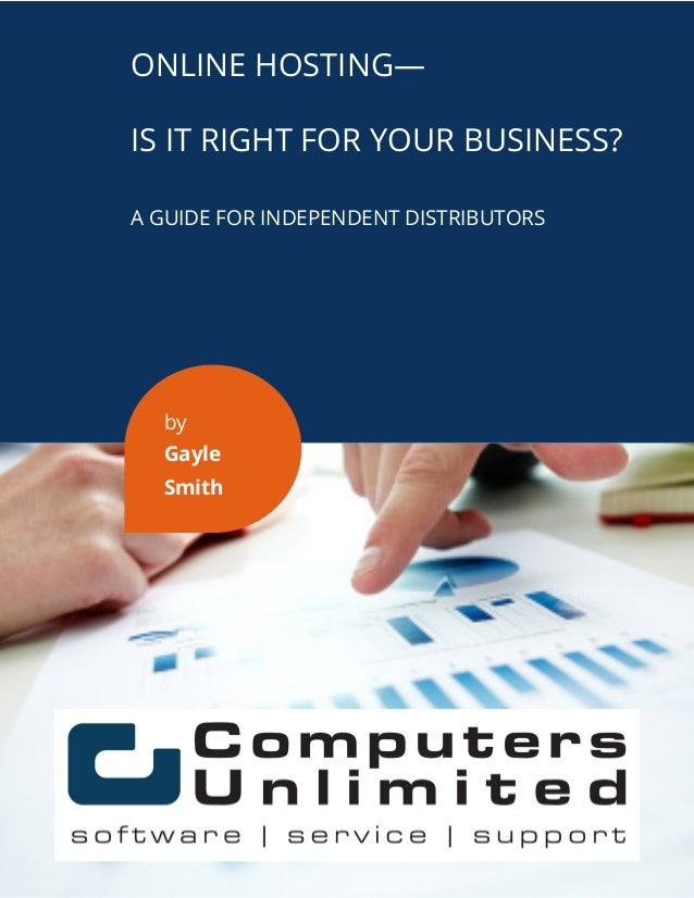 What to know about online hosting for a distributor? 406.255.9500 | TIMSSOFTWARE.COM/INDUSTRIAL ONLINE HOSTING— IS IT RIGH...