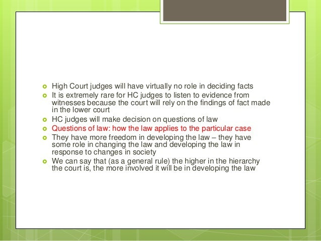 Role of the Judge and Other Courtroom Participants