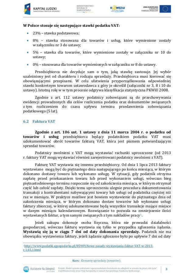 6.1 Dokumenty potwierdzające sprzedaż towarów Slide 3