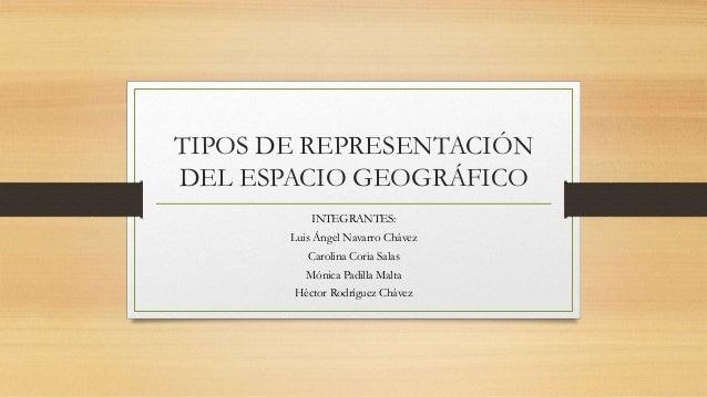 6 Tipos de representacin del espacio geogrfico
