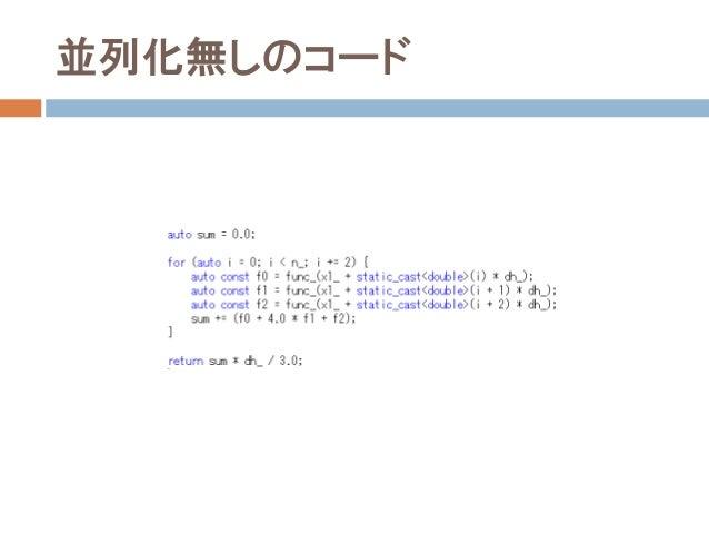 並列化無しのコード