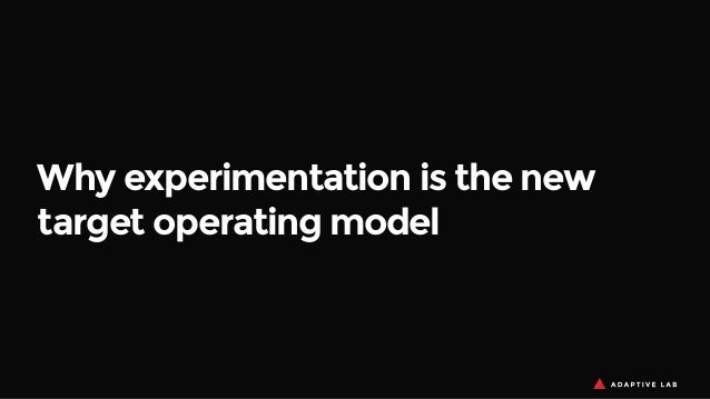 Why experimentation is the new target operating model