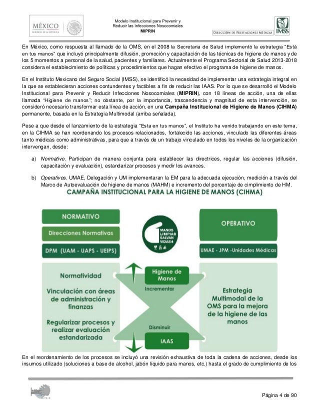 6. campaña institucional de higiene de manos