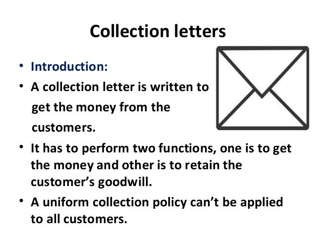 6. collection letters