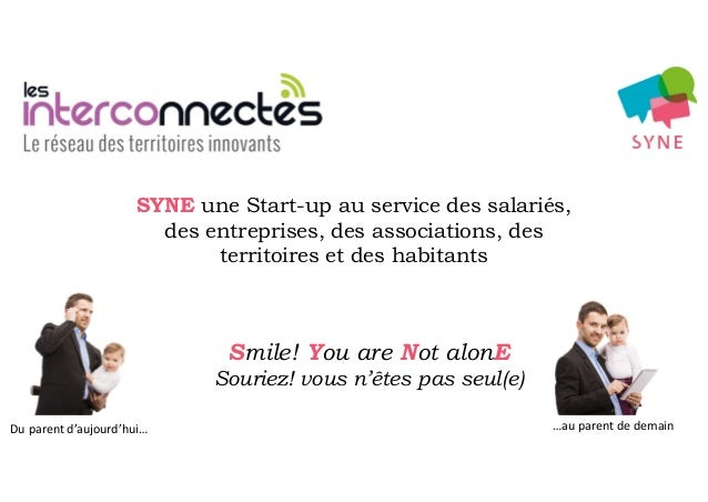 Du parent d'aujourd'hui… …au parent de demain Smile! You are Not alonE Souriez! vous n'êtes pas seul(e) SYNE une Start-up ...