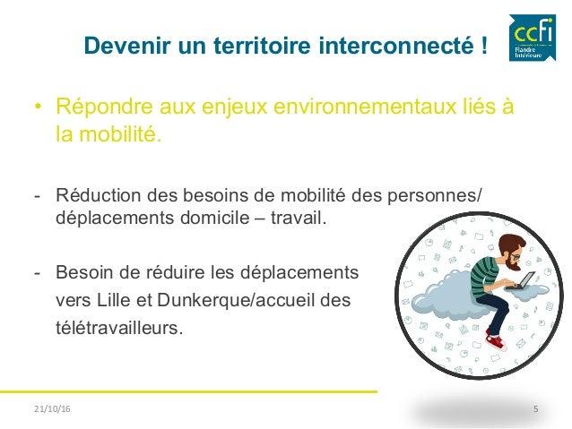 Devenir un territoire interconnecté ! • Répondre aux enjeux environnementaux liés à la mobilité. - Réduction des besoins...