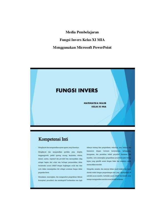 Media pembelajaran materi fungsi invers kelas xi mia media pembelajaran fungsi invers kelas xi mia menggunakan microsoft powerpoint ccuart Images