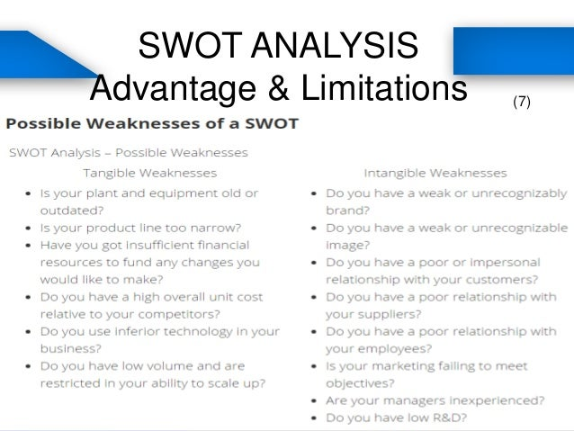 external and internal analysis of a A swot analysis evaluates the internal strengths and weaknesses, and the external opportunities and threats in an organization's environment the internal analysis identifies resources.
