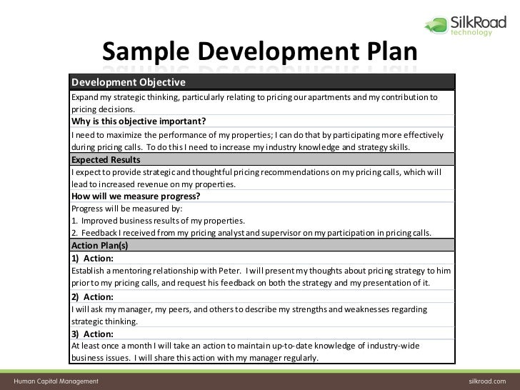 Sample employee development plan video search engine at for Employee professional development plan template