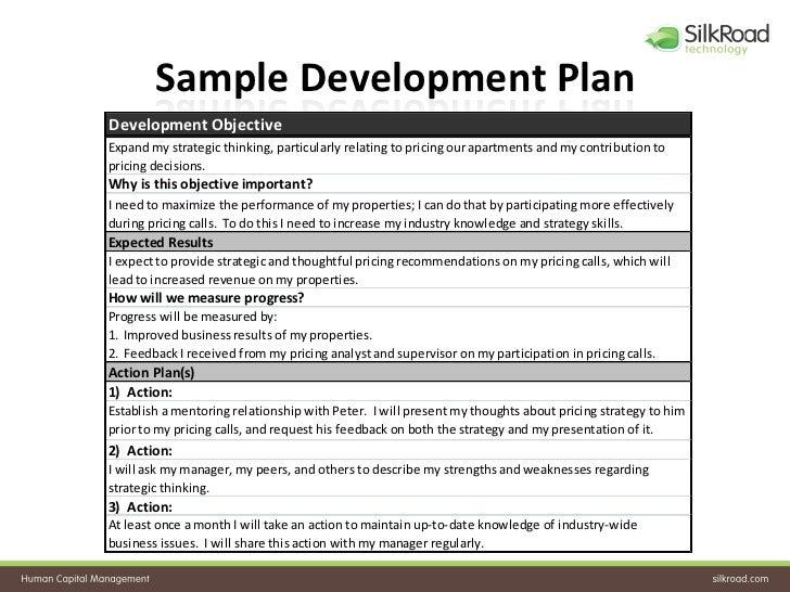 ... 26. Sample Development Plan ...  Development Plan Template For Employees