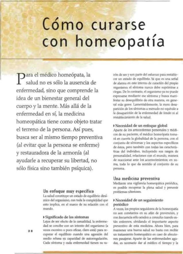 6. Cómo curarse con homeopatía