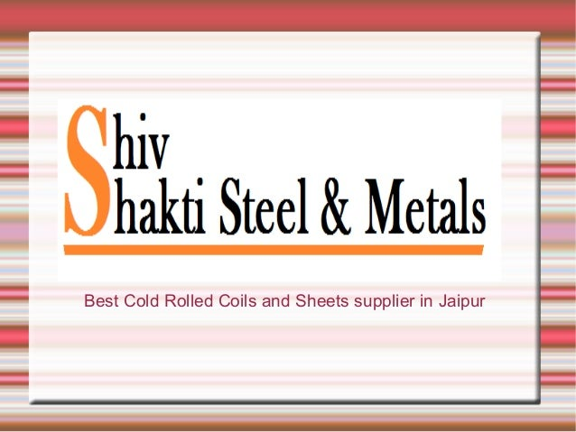 Best Cold Rolled Coils and Sheets supplier in Jaipur