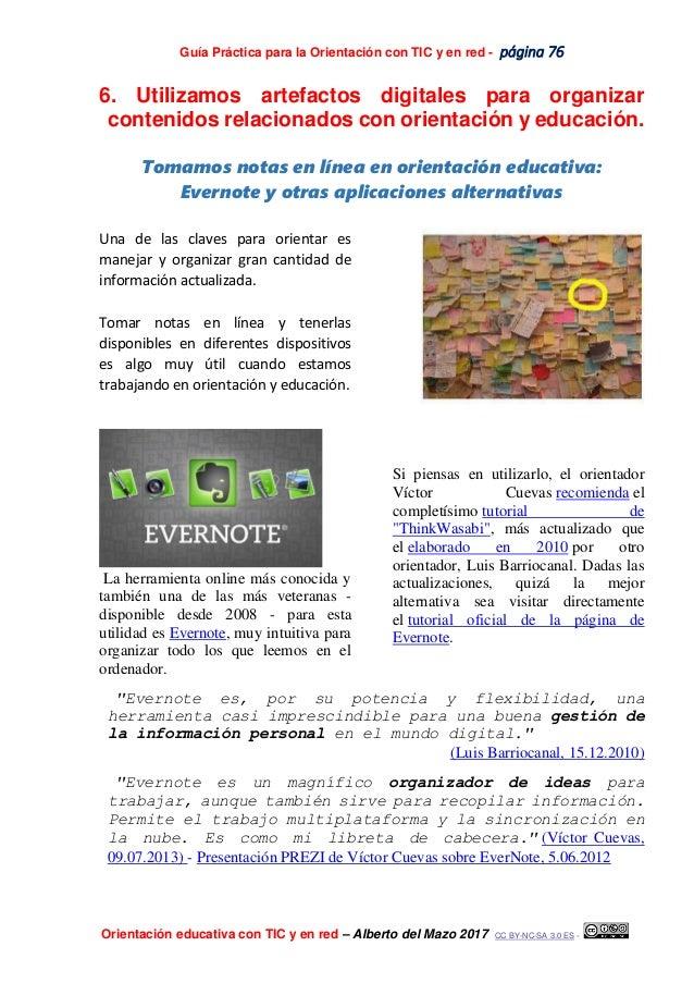 Guía Práctica para la Orientación con TIC y en red - página 76 Orientación educativa con TIC y en red – Alberto del Mazo 2...