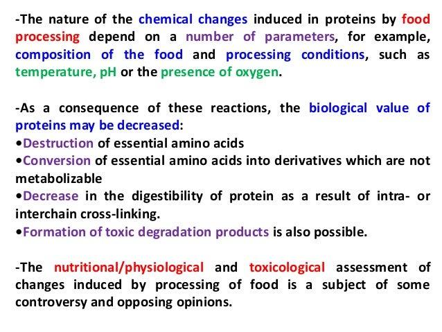 تفاعلات البروتينات اثناء تصنيع الاغذية Slide 3