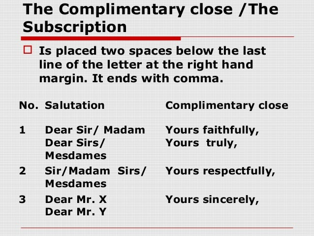 SlidePlayer  SlidePlayer    Business letters Greeting line Dear NO COMMA Dear  Sir or Dear sir madam cover letter sincerely YouTube