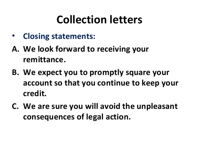 6 collection letters
