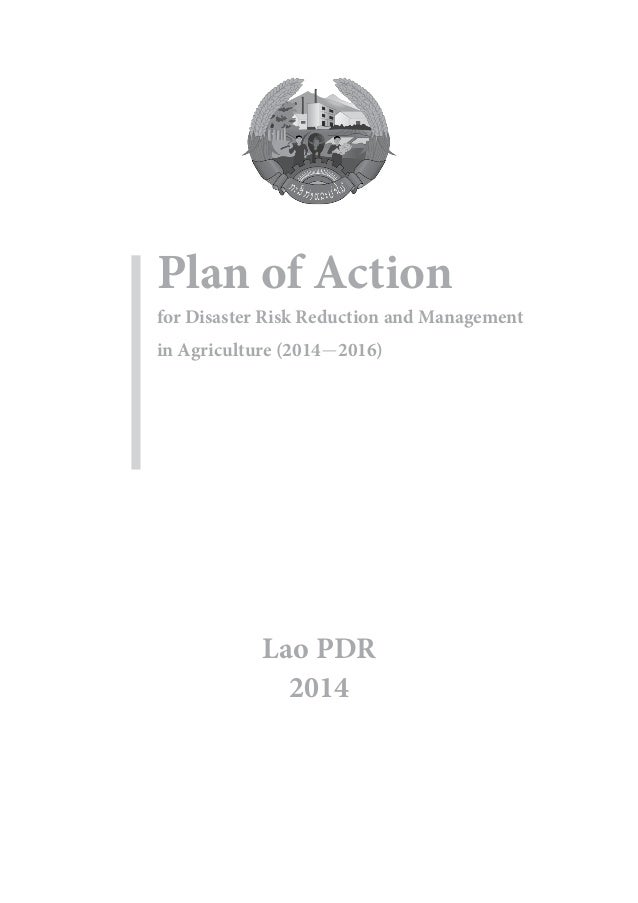 Plan of action for disaster risk reduction and management in agriculture Slide 2