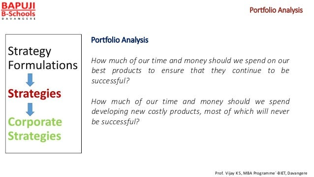 Portfolio Analysis Portfolio Analysis How much of our time and money should we spend on our best products to ensure that t...