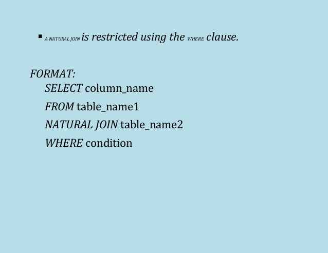 6 Displaying Data From Multiple Tables