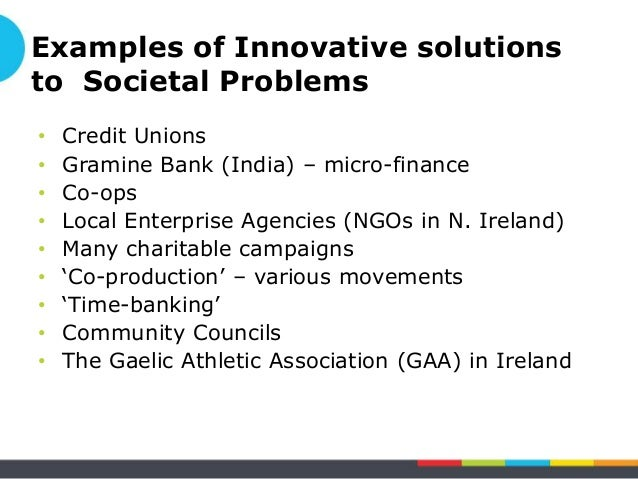 social problems examples and solutions