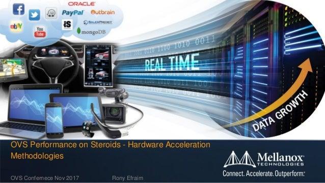 OVS Confernece Nov 2017 Rony Efraim OVS Performance on Steroids - Hardware Acceleration Methodologies