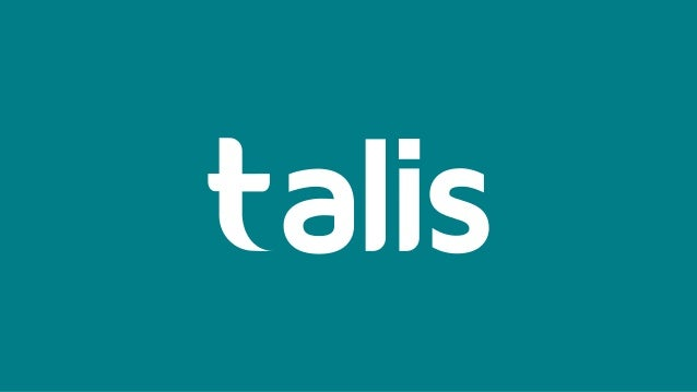Alison Spencer Head of Services Talis Keynote February 2018