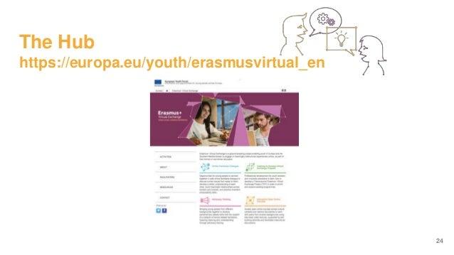 The Hub https://europa.eu/youth/erasmusvirtual_en 24