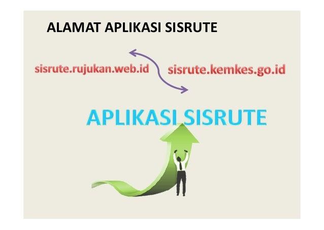Aplikasi web based • Aplikasi browser yang digunakan: Chrome, Firefox, atau IE • URL: http://sisrute.kemkes.go.id APLIKASI...