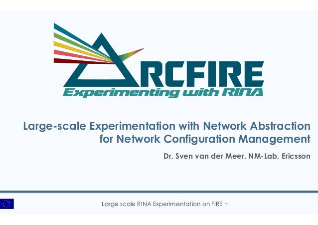 Large scale RINA Experimentation on FIRE + Large-scale Experimentation with Network Abstraction for Network Configuration ...