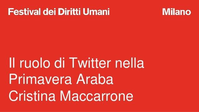A Scuola di Diritti Umani: Il ruolo di Twitter nella Primavera Araba Slide 2