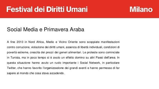 A Scuola di Diritti Umani: Il ruolo di Twitter nella Primavera Araba Slide 3