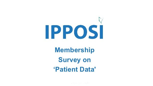 Powered by Membership Survey on 'Patient Data'