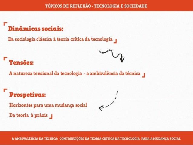 A teoria crítica da tecnologia Slide 2