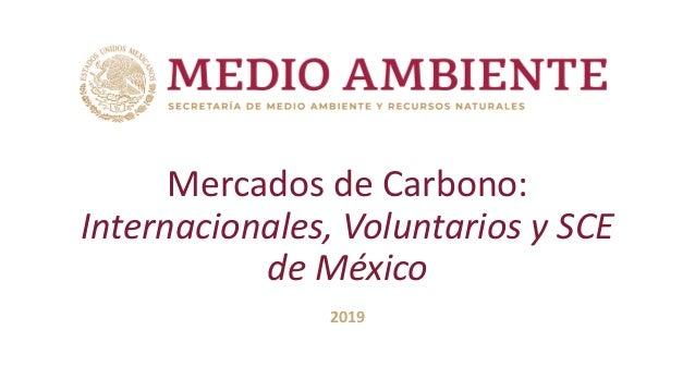Mercados de Carbono: Internacionales, Voluntarios y SCE de México 2019