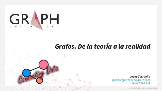 Grafos. De la teoría a la realidad Josep Tarruella josep@grapheverywhere.com +34 677 648 994
