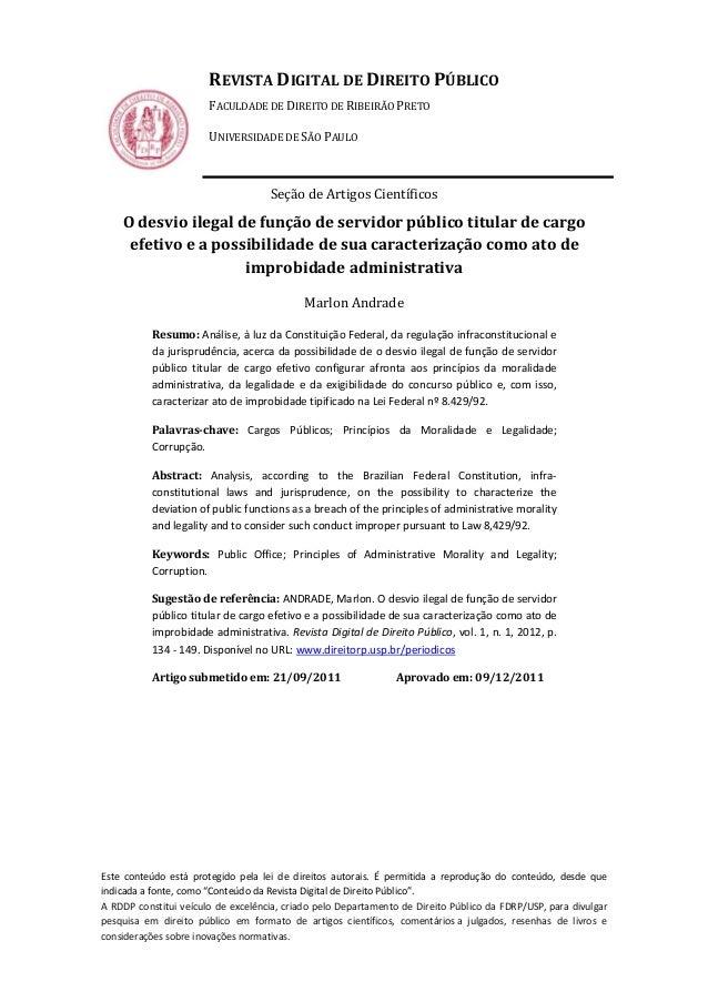IRE                       REVISTA DIGITAL DE DIREITO PÚBLICO                       FACULDADE DE DIREITO DE RIBEIRÃO PRETO ...